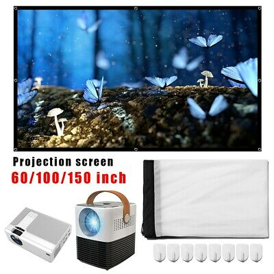 Projector Simple Curtain Home Outdoor Office HD Projector Anti-light Portables
