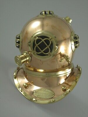 Taucherhelm Helm Tauchen Mark V Navy Diving Helmet 1897 aus Kupfer Replika