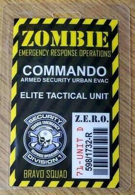Zombie Emergency Response Operation ID Badge-Research Viral Systems Engineer
