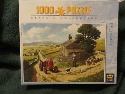 Sheep Lamb Border Collie TractorStone Wall Pasture Jigsaw Puzzle 1000 piece