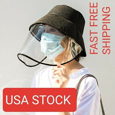 Safety Face Shield Hat Visor Mask Full Face Shield Protective Cap Fisherman