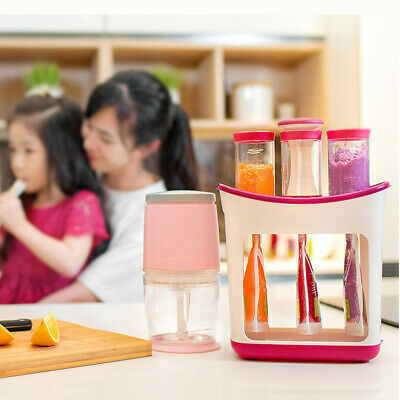 Baby Food Maker Squeeze Food Station Baby Food Organination Storage Containers