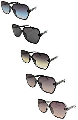 Oversized Fashion Tinted Sunglasses Womens Oval//Round UV400 in 5 Colours S9903