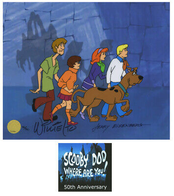 Scooby Doo 50th Limited Edition cel of 50 Signed by Willie Ito Jerry Eisenberg