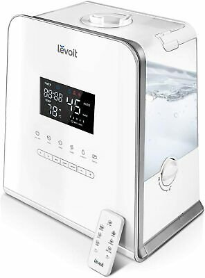 Levoit Cool and Warm Mist Humidifier, 5.5L Ultrasonic Humidifiers with Remote
