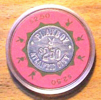 (1) $2.50 Playboy Casino Chip-Rare Pink and Green Chip-Atlantic City, New Jersey