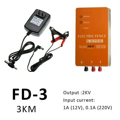Pro FD-3 Electric Fencing Energizer Charger Controller Kit for Chicken Farm