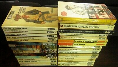 WESTERN poche - Lot de 33 livres - L'Amour, Patten, West, Shirreffs, Adams...