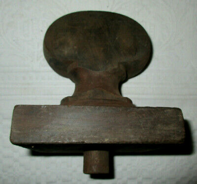 Large Antique wood newel post finial Furniture part Salvaged architectural