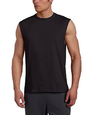 NWT Men's Russell Athletic  Cotton Crew Neck Muscle  Tee Shirt 4X Black