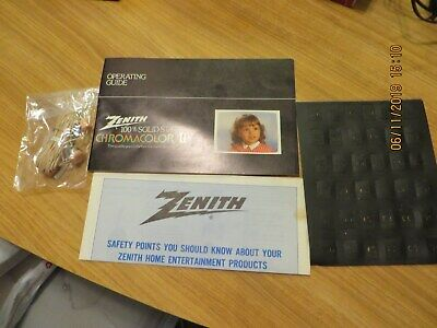 Zenith Chromacolor II Operating Guide Color Television vintage & extras