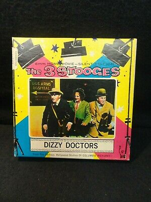 """The Three Stooges """"Dizzy Doctors"""" Super 8 Movie / 8mm / Columbia Pictures / USA"""