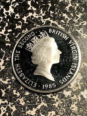 1985 British Virgin Islands $20 20 Dollars Lot#Q6809 Large Silver Coin! Proof!
