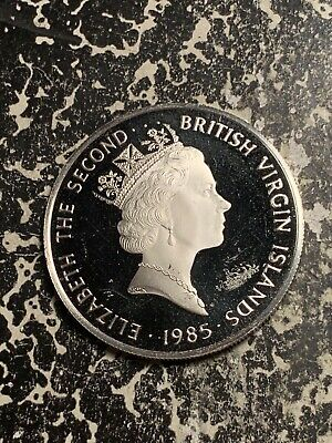 1985 British Virgin Islands $20 20 Dollars Lot#Q6812 Large Silver Coin! Proof!