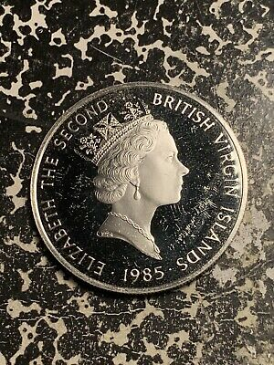 1985 British Virgin Islands $20 20 Dollars Lot#Q6813 Large Silver Coin! Proof!