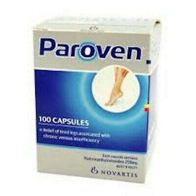 Paroven 250Mg 100 Capsules For Tired Heavy Aching Swelling Legs Relief Venous