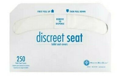 Half-Fold Toilet Seat Covers White 1000 Pieces 4 Pack of 250 Outdoor Use Public