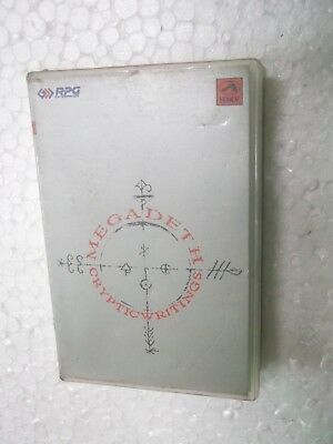 MEGADETH  CRYPTIC WRITINGS  CLAMSHELL 1997 RARE orig CASSETTE TAPE INDIA indian