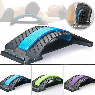 3 Level Magic Back Spine Lumbar Support Muscle Stretcher Acupuncture Relief AD