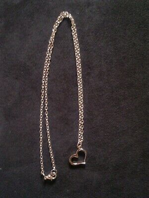 Rose gold plated necklace with heart pendant