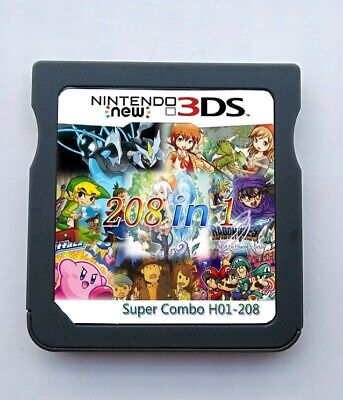 208 in 1 Game Cartridge Multicart For Nintendo DS NDS NDSL NDSi 2DS 3DS