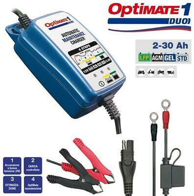Mantenitore Caricabatterie Accumate Optimate 1 Duo Per  Batterie 12V Da Moto
