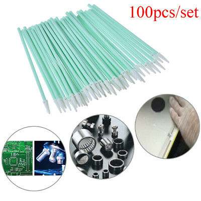 100pcs printher sponge sticks swabs solvent sponge cleaning swaps buds foam  EF