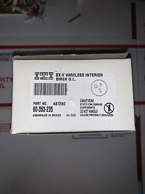 Part Number 60-512-319.5 NEW IN BOX! ITI SX-V DS924 PIR Motion Sensor at 319.5