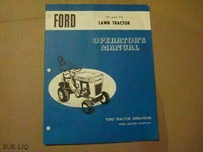 Business & Industrial FORD 70 75 LAWN TRACTOR OWNERS OPERATORS ...