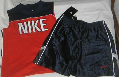 ADIDAS NWT Boys 2PC Outfit Top Shirt Shorts Hoops Basketball Red Black 12 M 12m