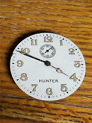 Vintage Elgin Clock Company Movement With Dial and Hands Marked Hunter