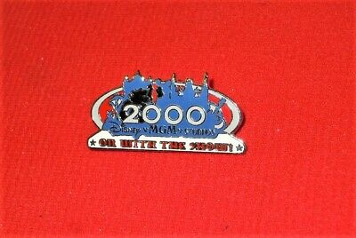 Walt Disney World MGM Studios Metal Lapel Pin On With the Show 2000 1.75 Wide