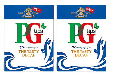 PG Tips The Tasty Decaf Pyramid Tea Bags Pack of 2 x 70 Total 140 Bags UK SELLER