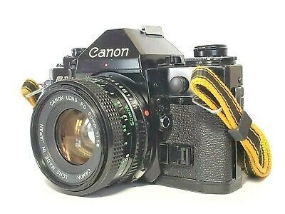 [Exc+5] Canon A-1 SLR Film Camera with NFD New FD 50mm f/1.8 Lens from Japan