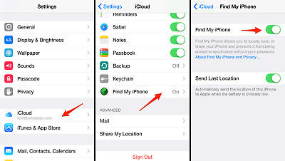 iCloud Unlock Removal Access menu Devices iPhone iPod and iPad IOS 7.X to 11.2.X
