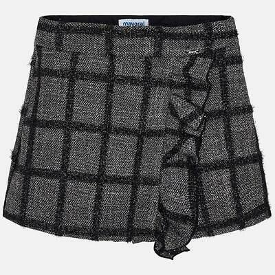 New Mayoral girls grey & black skirt shorts (skort) fit ages 3 years to 9 years