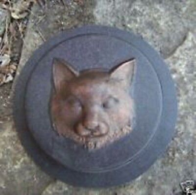Heavy duty plastic cat  stepping stone mold plaster concrete mould