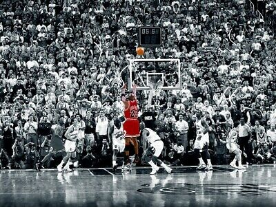 MICHAEL JORDAN THE LAST SHOT POSTER, Size 24x36