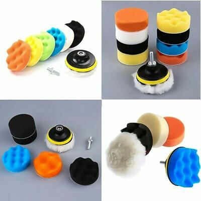 "22pcs 3"" Buffing Waxing Polishing Sponge Pads Kit Set For Car Polisher Drill UK"