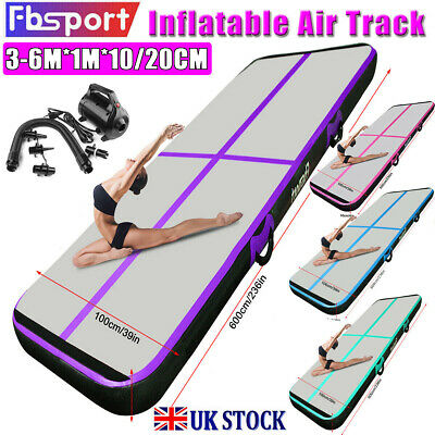 3/4/5/6m Air Track Floor Inflatable Airtrack Gymnastics Tumbling Mat GYM + Pump