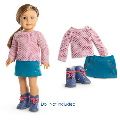 """American Girl TRULY ME SPARKLE SWEATER OUTFIT for 18"""" Dolls Skirt Boots NEW"""