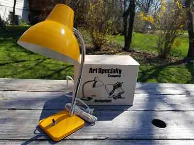 Vintage NOS Yellow Art Specialty Flexible Gooseneck Desk Lamp MCM Retro Lampy
