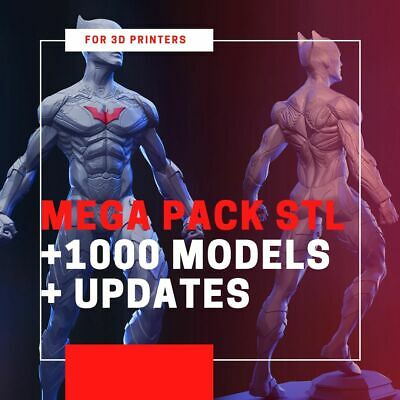 Mega Pack STL - 1000 models + Updates