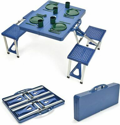 Portable Folding Picnic Table with 4 Seats