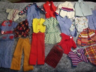 Huge 1970's Barbie, Ken, Clone, or Handmade Clothes Outfits Lot Metal Snap
