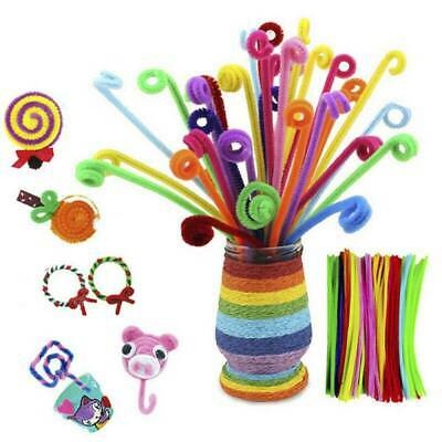 100/150x Colorful Chenille Stems Craft Pipe Cleaners/Fluffy Pompoms/Eyes Toy Set