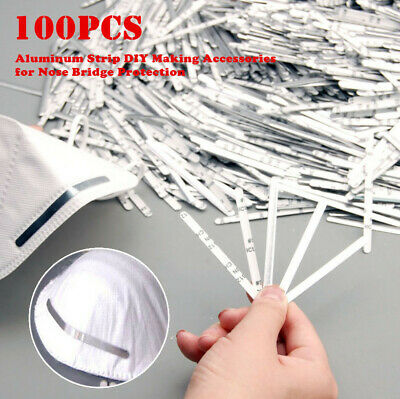 100-50Pcs 85mm Aluminum Strip DIY Making Accessories For Nose Bridge Protection