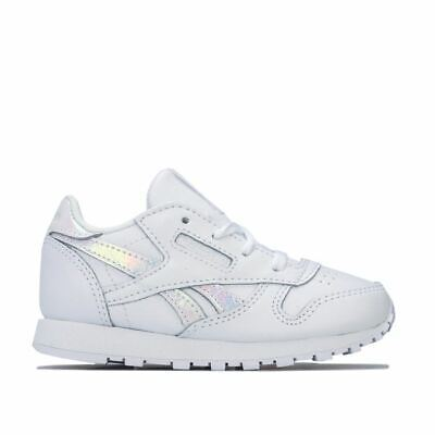 JUNIORS REEBOK CLASSIC LEATHER White Trainers BD4187 EUR