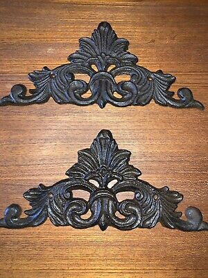 (4) Vintage Cast Iron Architectural Wall Decor