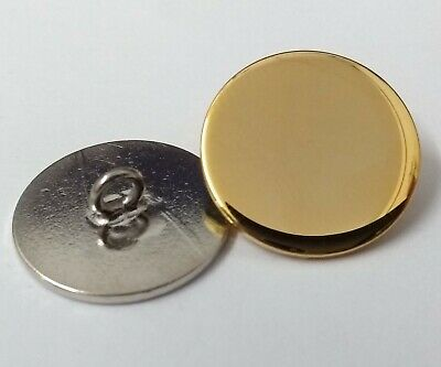 Genuine British Made Flat Blazer Jacket Chrome or Brass Buttons 24L or 32L NEW